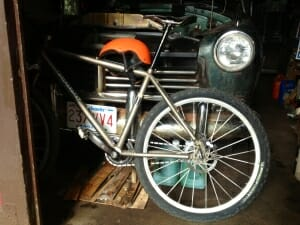 IF Bike & 1949 Hudson in Per's garage.